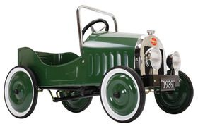 Green 'Classic' retro metal pedal car from Cocobaci