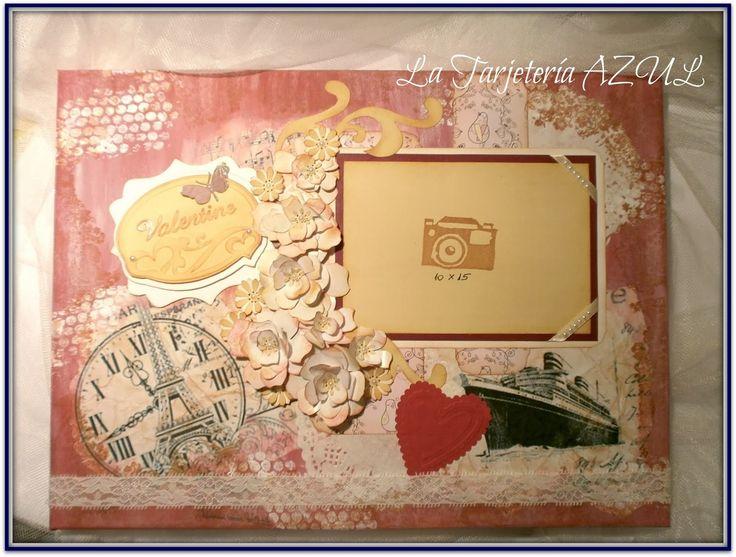 La Tarjetería AZUL: Lienzo personalizado por San Valentin