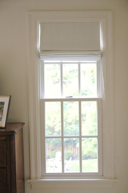 Home Depot's Premier Roman Shade in Milan Feather linen w/black-out liner, well-priced $125 - Jenny Steffens Hobick