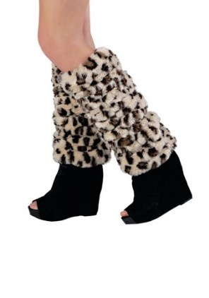 Leg Warmers + Animal Print! This screams Eco Fashion Fabulous with these Faux Fur trendy leg warmers. Keep cozy this holiday!