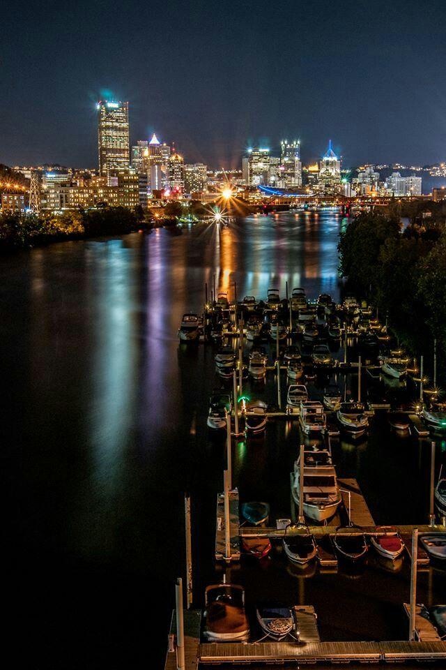 Pittsburgh, Pennsylvania, at night