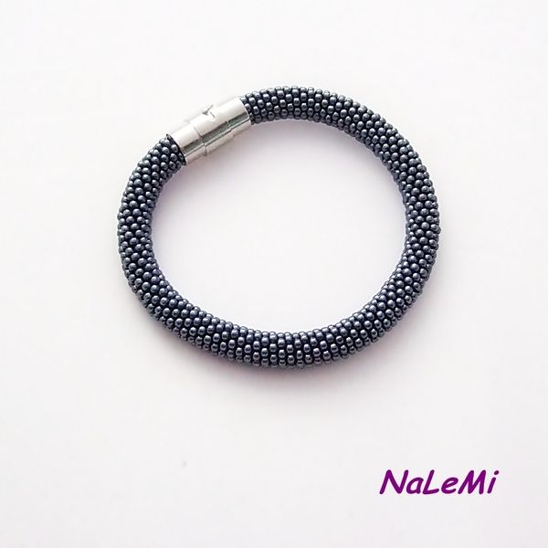 Bransoletka wąż  kolor hematytu w NaLeMi na DaWanda.com