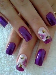 82 best wedding nails images on pinterest nail design gel nails deep purple nail art design 2014 purple nail 2014 prinsesfo Images