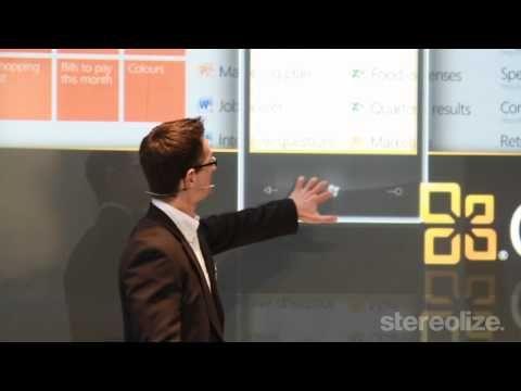 Microsoft interactive Presentation on Cebit 2011