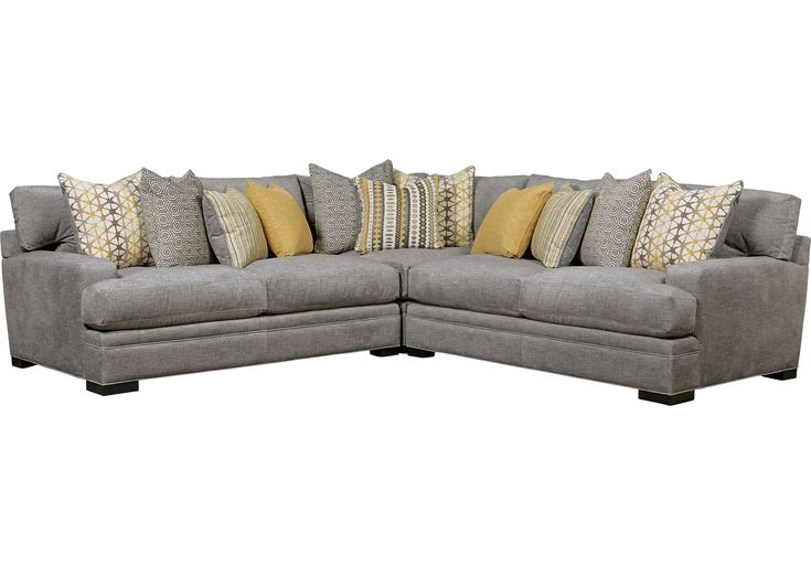 Picture Of Cindy Crawford Home Palm Springs Gray 3 Pc Sectional From Sectionals Furniture Home