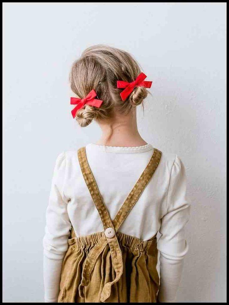 25 einfache Frisuren für kleine Mädchen, die 2 Minuten oder weniger …   Damen Frisuren