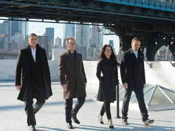 Jim Caviezel, Michael Emerson, Lucy Liu and Jonny Lee Miller