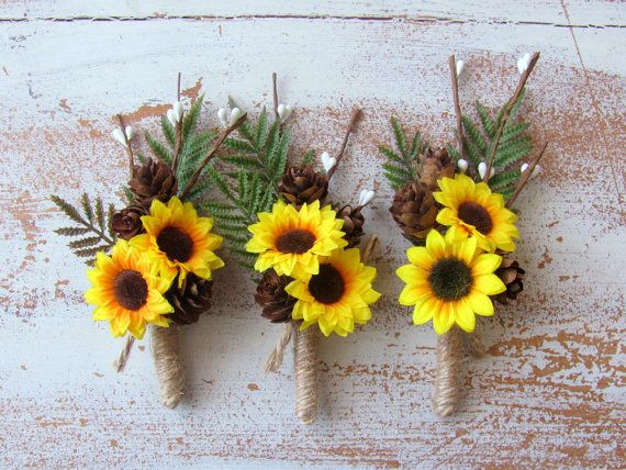 Hey, I found this really awesome Etsy listing at https://www.etsy.com/listing/398085955/sunflower-wedding-boutonniere-rustic