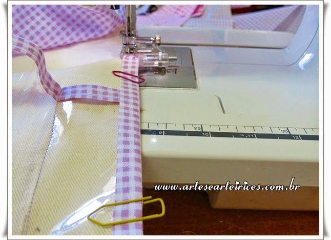 Dicas de Costura  costurando viés e como prender cone de linha grande na máquina de costura na máquina doméstica