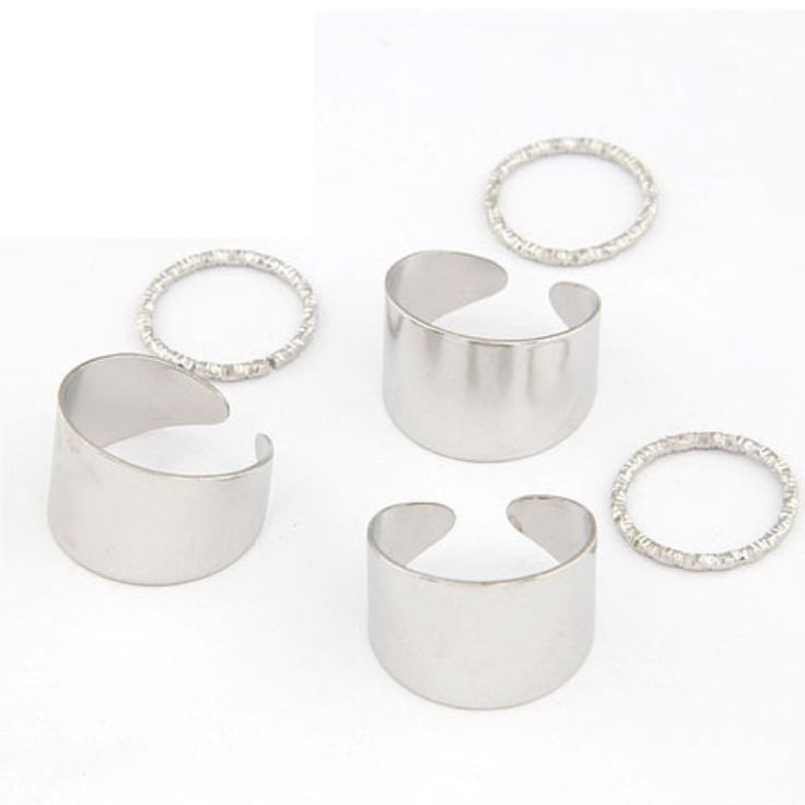 Set de anillos metálicos 6 en 1