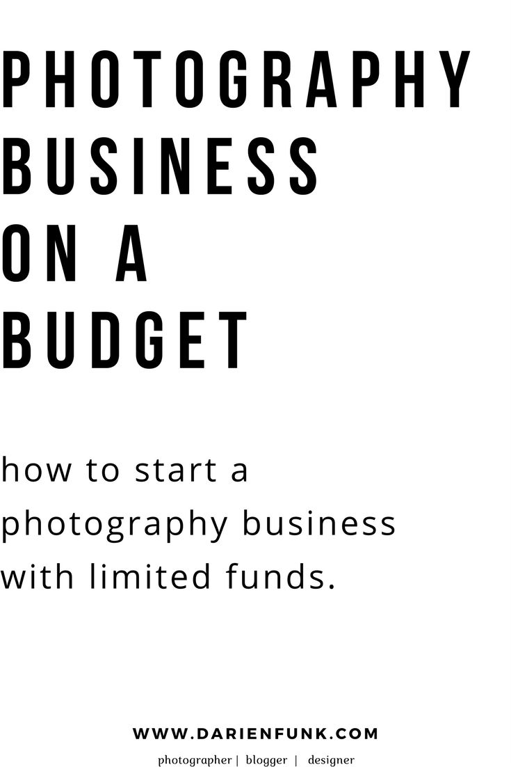 Photography Business on a Budget