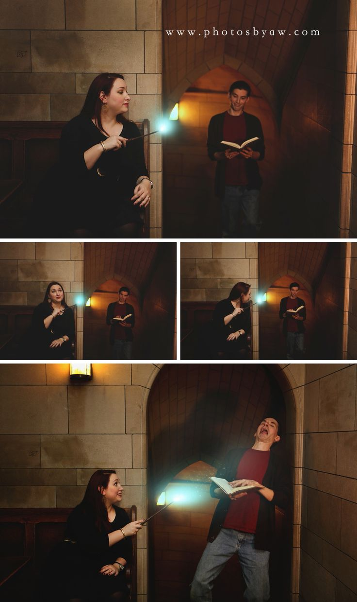 Harry Potter themed engagement session ©Copyright 2015 Photography by Amanda Wilson