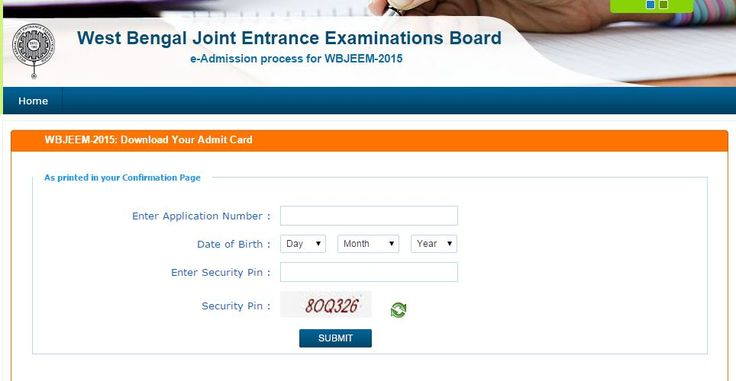 WBJEE Admit Card 2015, West Bengal Joint Entrance Examination Board, WBJEE Admit Card 2015 Available ,