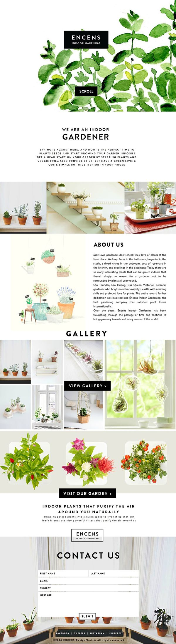 ENCENS- Not only am I drawn to this ad because I love plants, but it is so eye-catching! The beautiful images and adorable colors work so well together to create an attractive advertisement. This ad has lots of information but it is displayed in a way that doesn't cause clutter or overwhelm the audience so much that they skip right past it and move on without reading it. The links to the website continually draw the audience to their store, without confusing the audience. Such a nice ad.