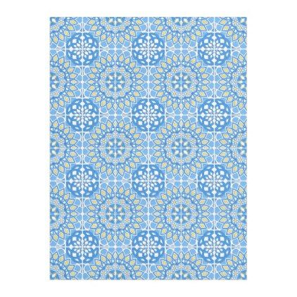Portuguese tile patterns fleece blanket - blue gifts style giftidea diy cyo