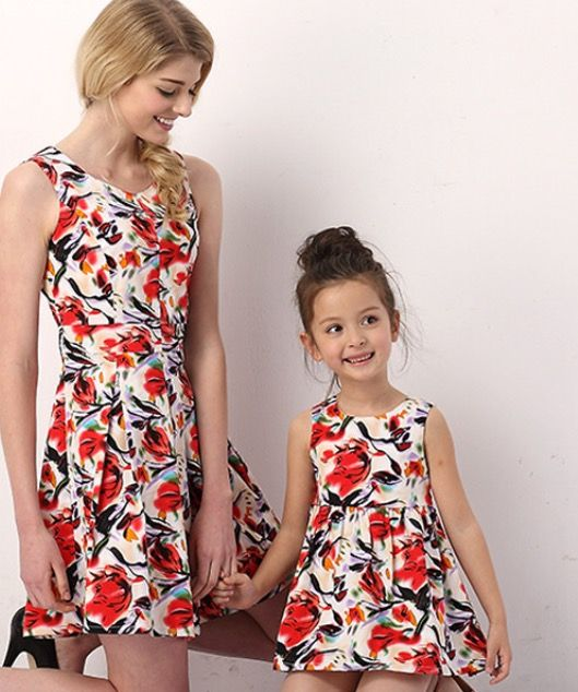 Mother and Daughter Cotton Floral Dress