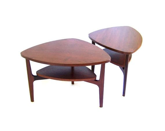Vintage Amoeba End Tables Pair of Side Tables Brazilian Rosewood Wood Side Tables Atomic Era Furniture Mid Century Modern Furniture on Etsy, £592.72