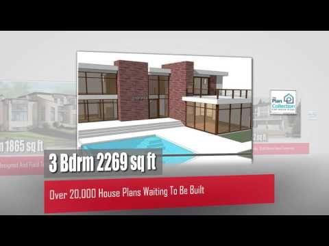 hundreds of modern house plans waiting to be built at The Plan Collection >> modern house plans --> www.youtube.com/watch?v=QZ5U3Iqu9nM