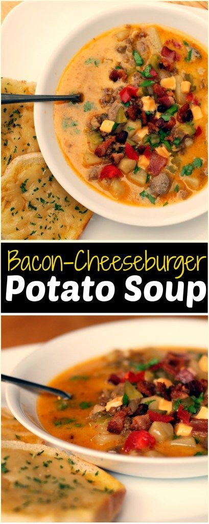 This Award Winning Bacon-Cheeseburger Potato Soup is one of the best soup recipes I have ever had!  Thick and hearty and crazy good! Our whole family just adores this recipe! Really easy to make too and all in one pot!