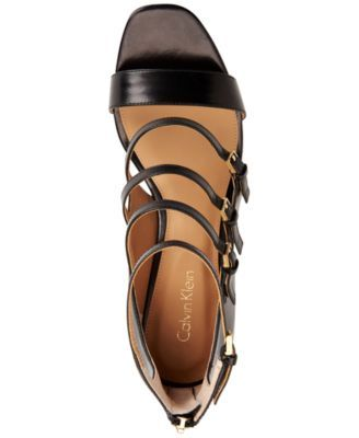 Calvin Klein Women's Caz Strappy Sandals - Black 7.5M