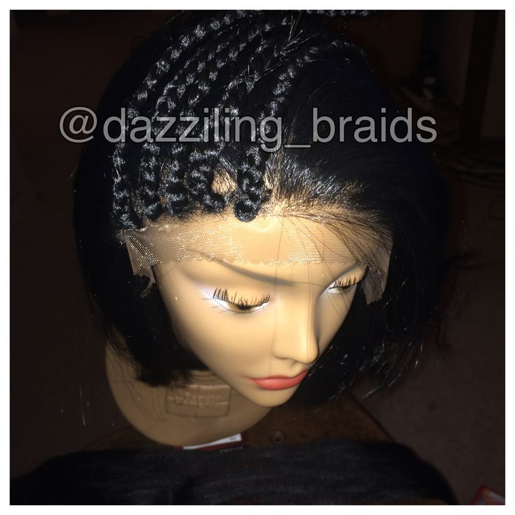 Lace front box braid wig