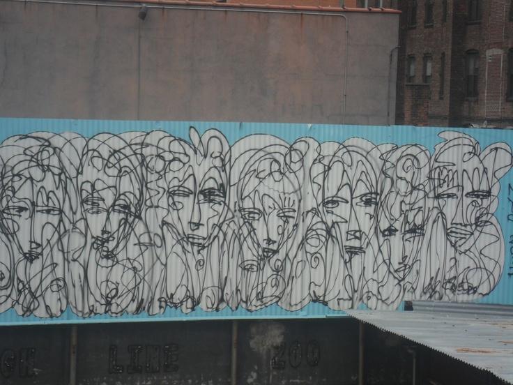 Graffiti visto desde High Line Park, NY