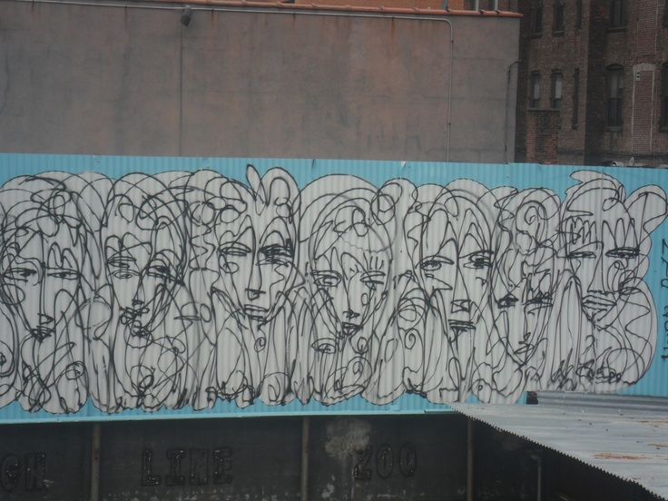 Graffiti visto desde High Line Park, NY