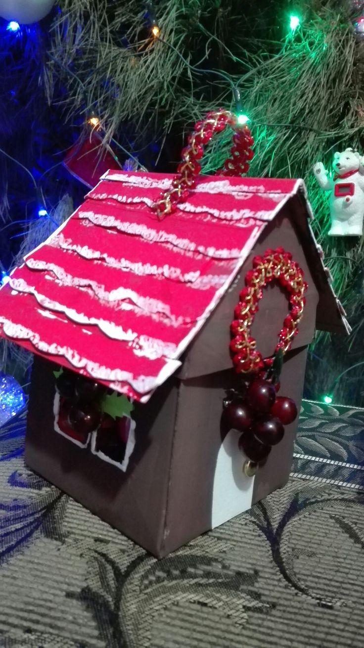 Decoración navideña o cajita de regalo