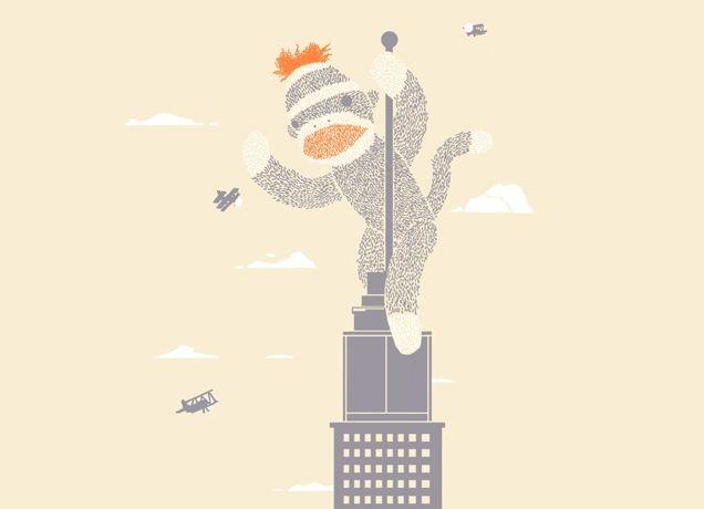 """Sock Monkey Just Wants a Friend"" - Threadless.com - Best t-shirts in the world"