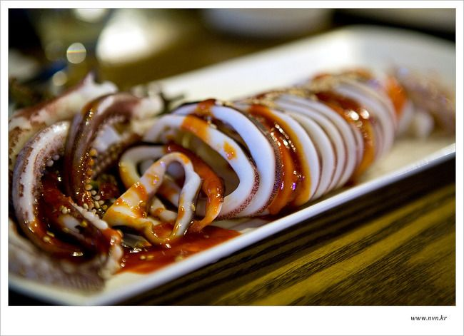 신논현역 맛집 오징어데침, 오징어사진 과 동영상