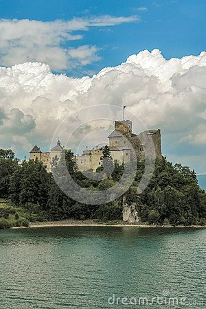 Nidzica castle on the hill. Poland. Europe