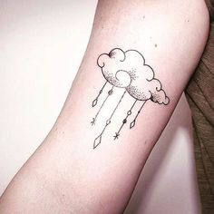 Unique and Interesting Cloud Tattoo Design