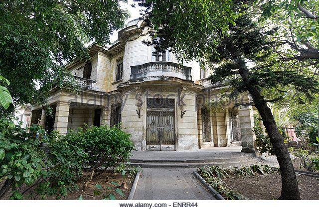 Old mansion in Vedado neighborhood, Havana, Cuba - Stock Image