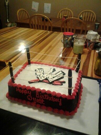 WWE birthday cake (pokemon cake ideas)
