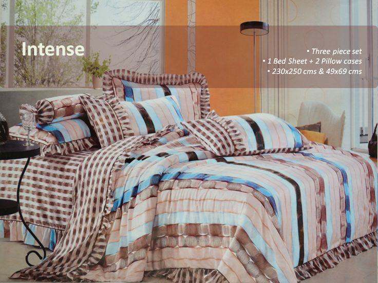 Intense- Elegant Bedsheet  Let your contemporary style home decor find a worthy addition with this multicoloured bed set . https://www.facebook.com/krtif