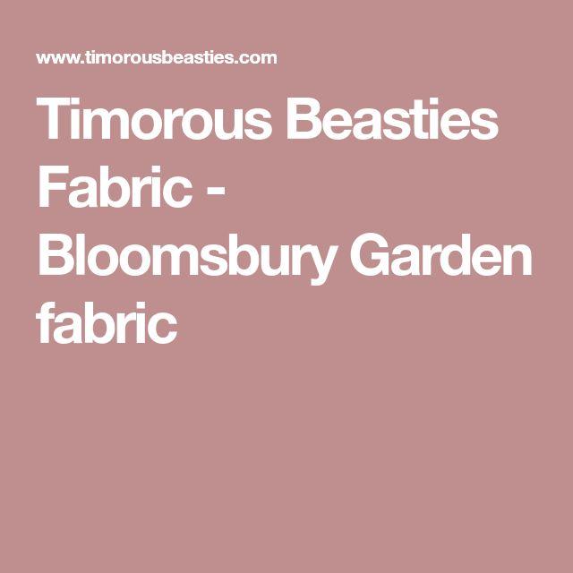 Timorous Beasties Fabric - Bloomsbury Garden fabric