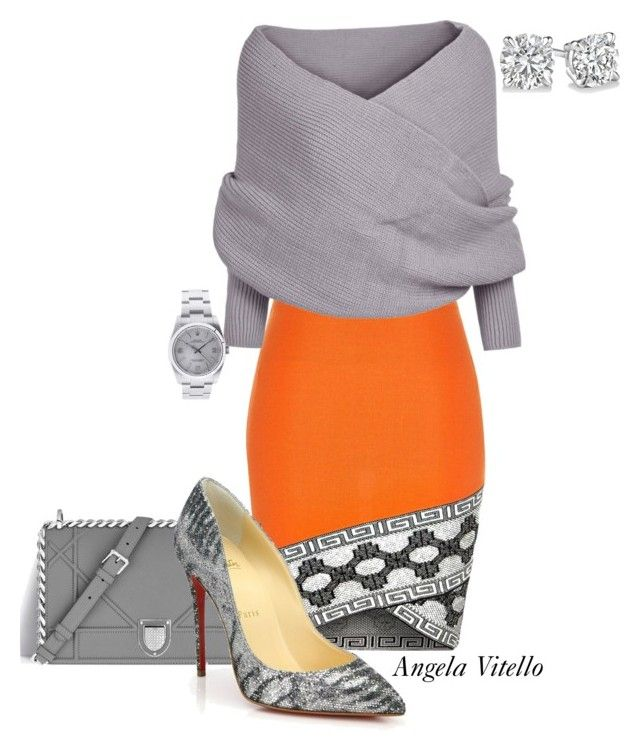 """""""Untitled #624"""" by angela-vitello ❤ liked on Polyvore featuring River Island, Christian Louboutin and Rolex"""