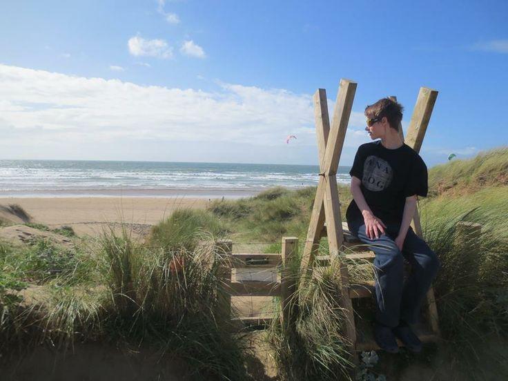 Enjoying the dunes at Saunton Sands in August