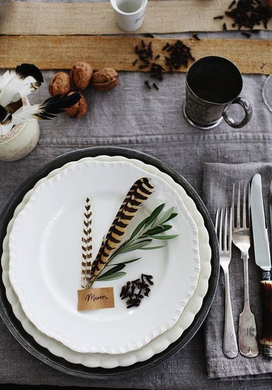 feather placecard