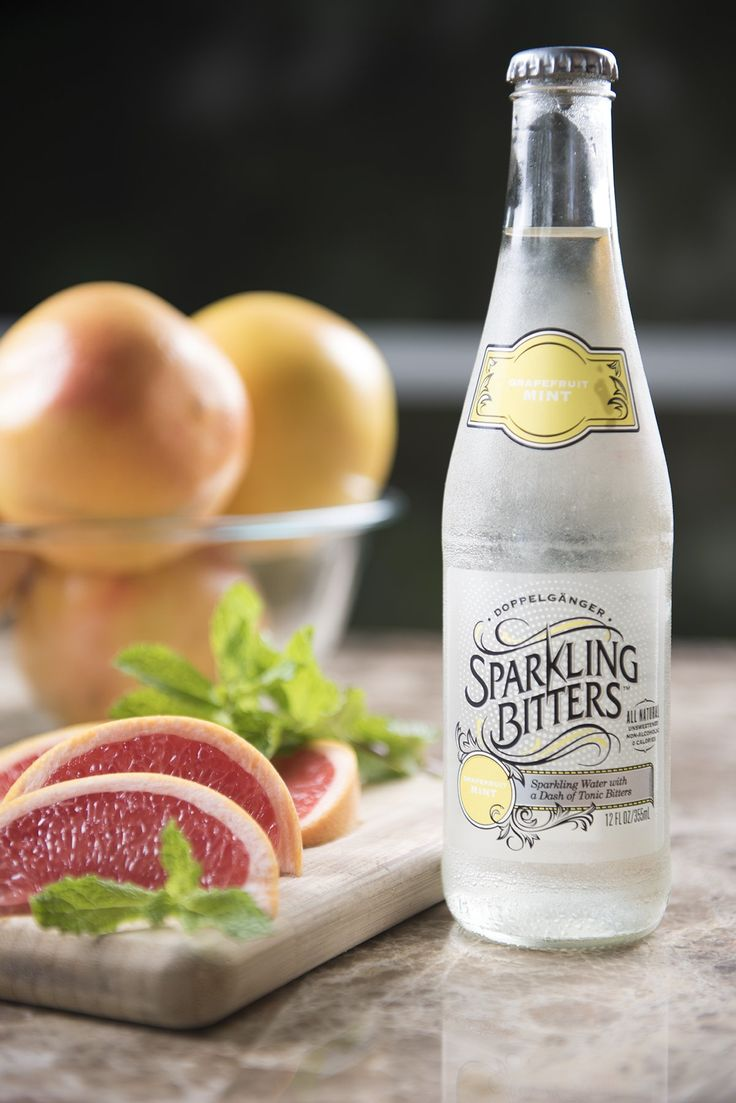 Sparkling Bitters Water, GRAPEFRUIT MINT