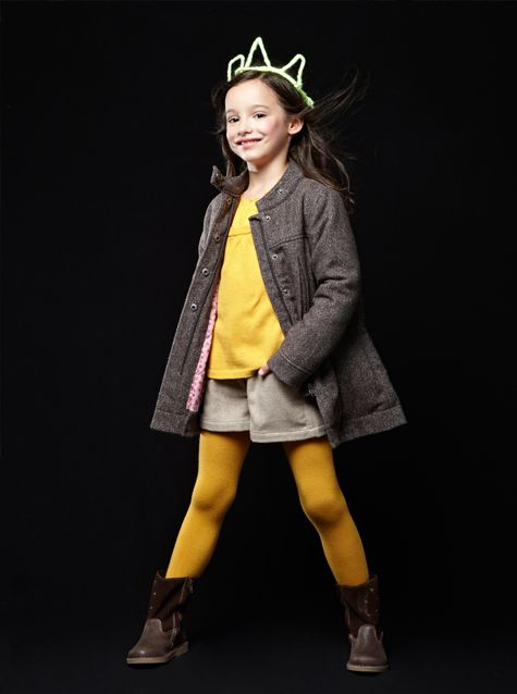 #Manteau drap de #laine - Collection automne hiver 2013 - www.vertbaudet.fr