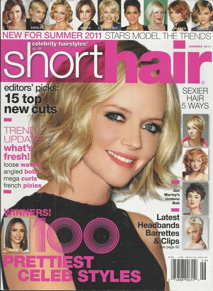 Short Hair magazine 100 celebrity styles Waves Curls Bobs Pixies Headbands Clips