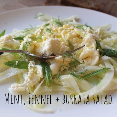 Mint, Fennel & Homemade Burrata Salad  | Omnom Cheese Making | Sydney