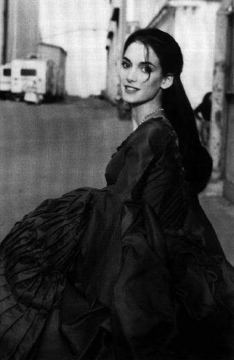 Winona Ryder on the set of Dracula