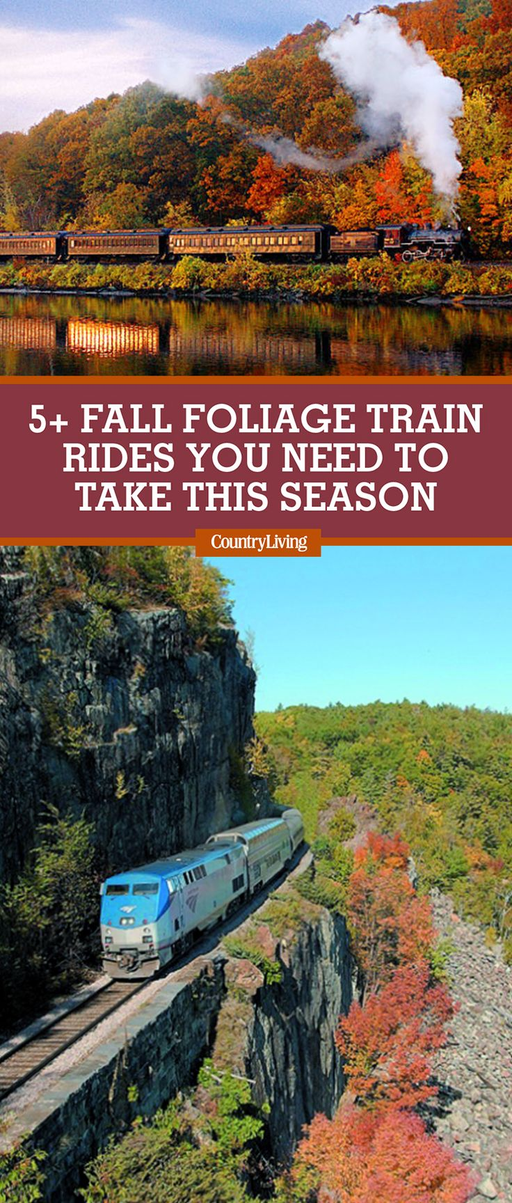 Hop aboard these fall train rides and let someone else do the driving while you leaf-peep.
