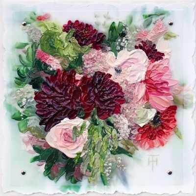 Brianne's Bouquet - A Custom Painting of your Wedding Bouquet - by Terri Heinrichs