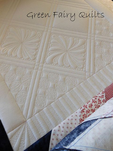 Amazing quilting! love the double bars lining the blocks and mimic-ed on the boarder