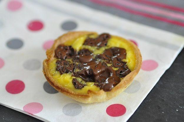 """version sucrée pépites de chocolat façon """"tarte aux carrés de chocolat"""""""