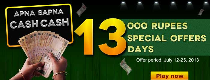 """Classic Rummy introduces a New, Exciting """"Special 13 offers"""", where you can win Rs.1000 per offer while playing rummy online.  For more details about the offer click the link : https://www.classicrummy.com/content/apna-sapna-cash-cash-13-special-offers?link_name=CR-12"""
