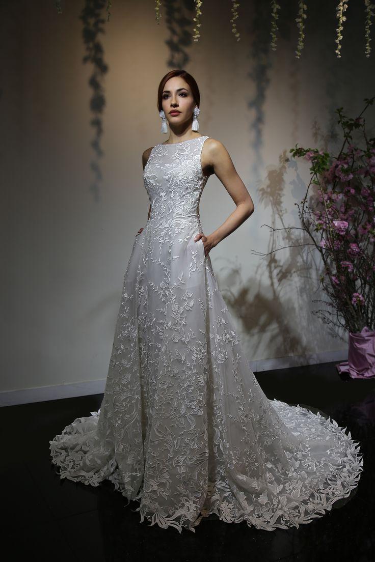 Lace off shoulder wedding dress august 2019  best Robes de mariée images on Pinterest  Wedding frocks